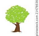a tree growing money in the form of dollar notes 21476636