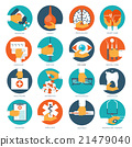 Vector illustration. Flat medical background 21479040