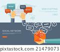Vector illustration.  Global communication. Social 21479073