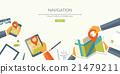 Vector illustration. Flat header. Navigation 21479211