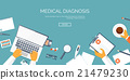 Vector illustration. Flat header. Medical 21479230