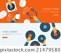 Vector illustration. Flat background with 21479580