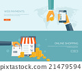 Vector illustration. Flat header. Shopping. Web 21479594