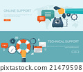 Vector illustration. Online support concept 21479598