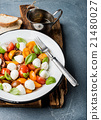 Italian Caprese salad with cherry tomatoes, small 21480027