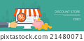 Vector illustration. Flat header. Shopping. Web 21480071