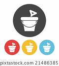 sand bucket icon 21486385
