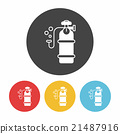 Oxygen cylinder icon 21487916