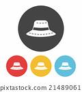 sun hat icon 21489061