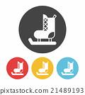 Ice skates icon 21489193