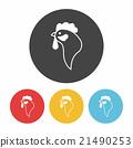 chicken icon 21490253