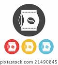coffee bean bag icon 21490845