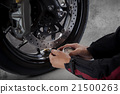 motorcycle wheel air checking  21500263