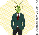 Cartoon character Mantis. 21504972