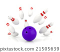 Ball crashing into the bowling pins 21505639