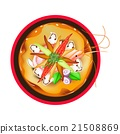Tom Yum Goong or Thai Spicy Sour Soup with Prawns 21508869