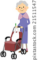 矢量 購物 年齡大的婦女 21511547
