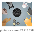 Animal background with dogs 21511858