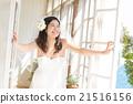 新娘 窗 窗户 21516156
