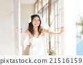 新娘 窗 窗戶 21516159