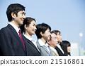 회사원, 비즈니스 팀, 웃는 얼굴 21516861