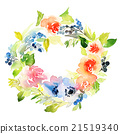 Flowers watercolor illustration 21519340