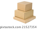 brown corrugated paper box 21527354