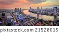 Bangkok Cityscape Sunset Panorama 21528015