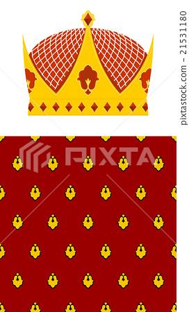 Set Crown and mantle. Royal Crown. 21531180