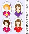 Cute illustrations of beautiful young girls 21532103