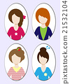Cute illustrations of beautiful young girls 21532104