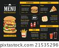restaurant cafe menu graphic template flat design 21535296