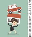 Debt. Cartoon Illustration 21535470