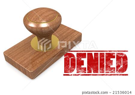 Denied wooded seal stamp 21536014