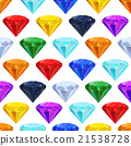 Many different colourful gemstones in a row 21538728