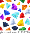 Different colourful gemstones, seamless pattern 21538729