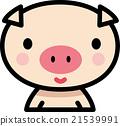 動物 ぶたさん キャラクター向け 21539991
