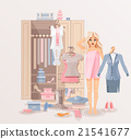 Girl with clothes closet 21541677