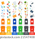 Trash cans with srted garbage 21547408