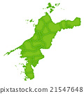 Ehime map green icon 21547648