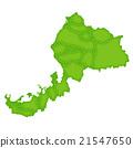 Fukui Map Green Icon 21547650