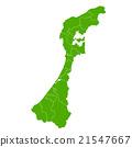 Ishikawa Map Green Icon 21547667
