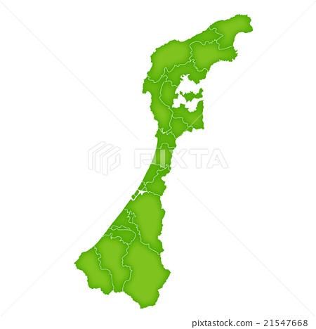 Ishikawa Map Green Icon 21547668