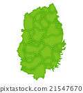 Iwate Map Green Icon 21547670