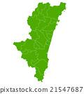 Miyazaki map green icon 21547687