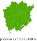 Okayama map green icon 21548037