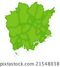 Okayama map green icon 21548038