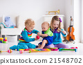 Music for kids, children with instruments 21548702