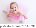 Little ballerina in pink tutu 21548791