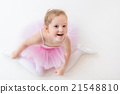Little ballerina in pink tutu 21548810